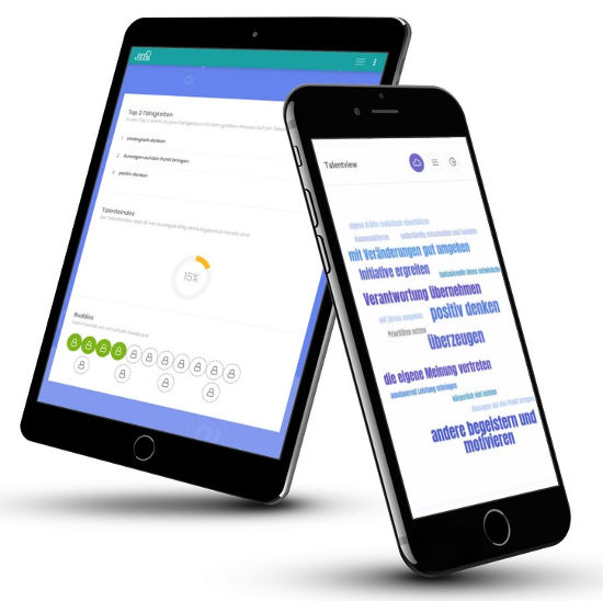 TalentLoop auf Tablet und Smartphone