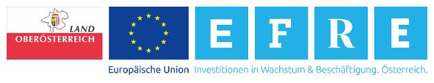 Logos Land OÖ, EU, EFRE