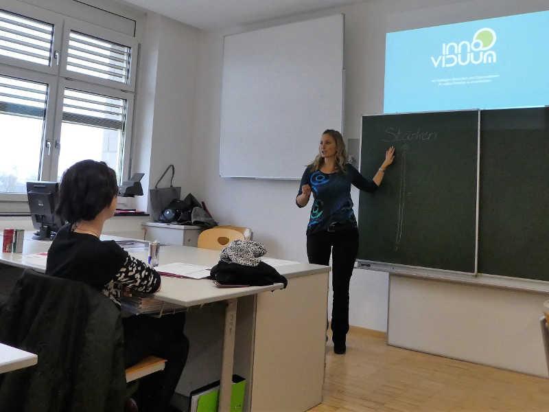 Anna Pollhamer Vortrag in Berufsschule