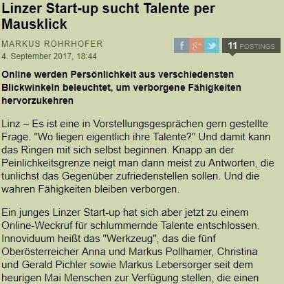 Vorschaubild Artikel Standard, Talente per Mausklick
