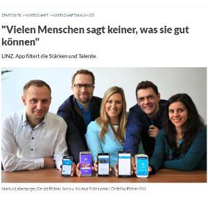 Screenshot Innoviduum Artikel OÖ Nachrichten: Vielen Menchen sagt keiner was sie gut können