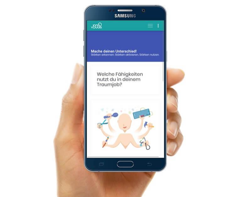 TalentLoop auf Smartphone