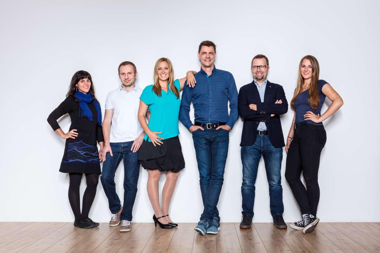 Team Innoviduum_v.l. Christina Pichler, Markus Lebersorger, Anna u. Markus Pollhamer, Gerald Pichler, Patricia Schwärzler