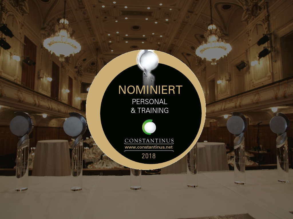 Constantinus Award 2018 Siegel Innoviduum nominiert