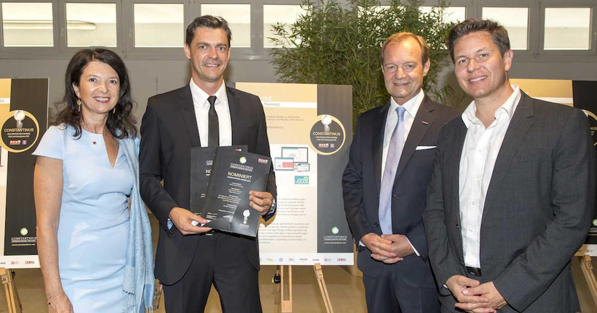 Markus Pollhamer Innoviduum Gmbh bei Übergabe Urkunde Constantinus Award 2018
