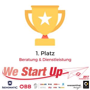 Siegel Gewinner We Start Up Challenge 2017