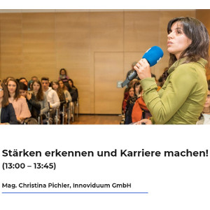 Christina Pichler von Innoviduum am Karrieforum Salzburg 2018